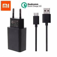 Xiaomi MDY-08-DF Universal Original USB Travel Charger 12V / 1.5A + USB-C Cable Black (OEM)