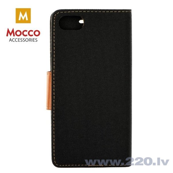 Mocco Canvas Book Case For Xiaomi Redmi Note 5 / Redmi 5 Plus Black