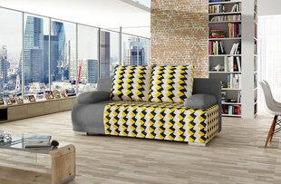 Dīvāns Roma, dzeltens/pelēks