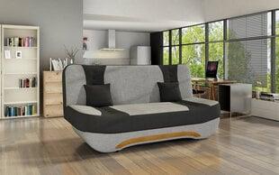 Dīvāns Ewa II, pelēks/melns