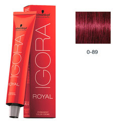Matu krāsa Schwarzkopf Professional Igora Royal 60 ml, 0-89 Red Purple Concentrate