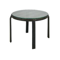 Dārza galdiņš Wicker 52 cm, melns