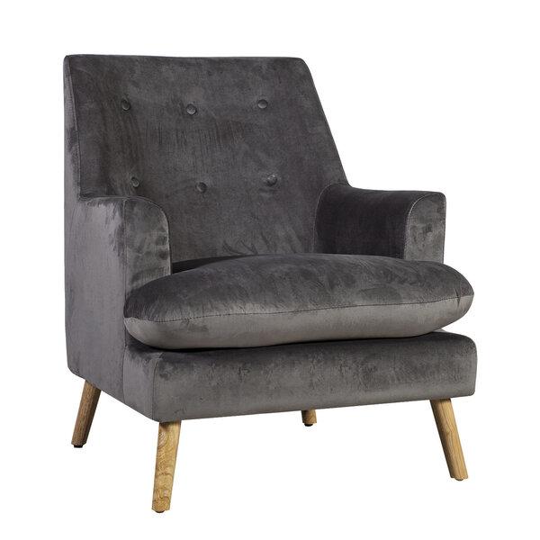 Krēsls Silvia, tumši pelēks