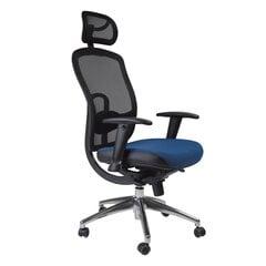 Biroja krēsls Lucca, melns/zils