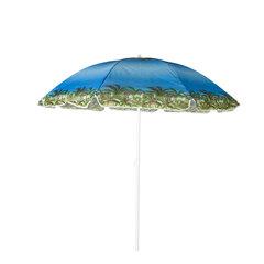 Āra lietussargs Sunny Beach, zils cena un informācija | Saulessargi, marķīzes un statīvi | 220.lv