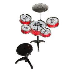 5 bungu komplekts ar krēslu, Smiki My first drum set