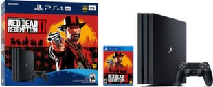 Sony PlayStation 4 (PS4) Pro, 1 TB + Red Dead Redemption 2