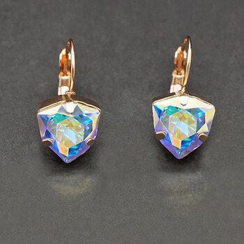 "Sieviešu auskari DiamondSky ""Bermuda Triangle Aurore Boreale"" ar Swarovski kristāliem"