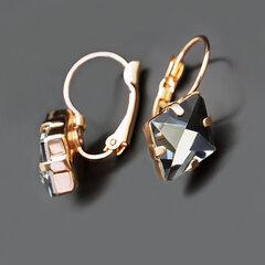 "Sieviešu auskari DiamondSky ""Crystal Rhombus III Moroda"" ar Swarovski kristāliem"