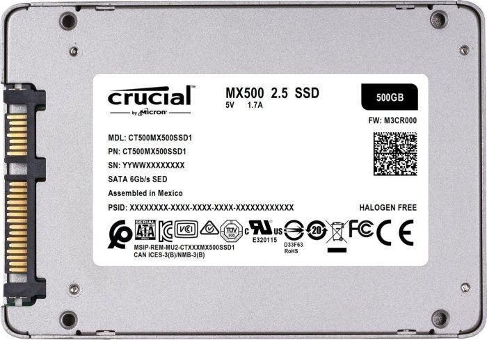Crucial MX500 500GB SATA3 (CT500MX500SSD1) atsauksme