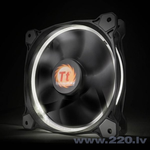 Thermaltake Fan Riing 12 LED, 120mm, 3 pcs, White (CL-F055-PL12WT-A) cena