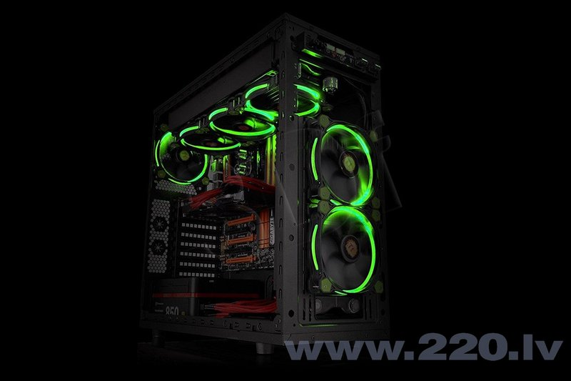 Thermaltake Riing 12, 120mm LED Green (CL-F038-PL12GR-A)
