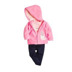 Cool Club komplekts: bodijs ar garām piedurknēm, jaka un sporta bikses meitenēm, CNG1703811-00 cena un informācija | Apģērbs zīdaiņiem/bērniem | 220.lv