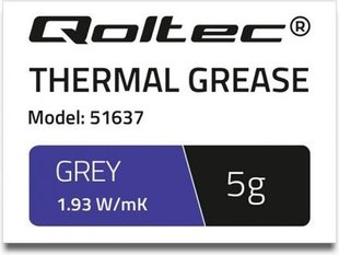 Qoltec Thermal grease 1.93 W / m-K | 5g | Gray (51637)