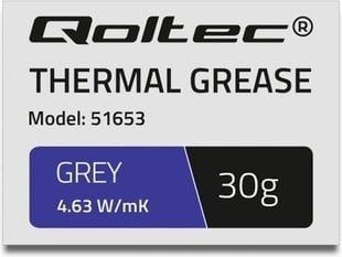 Qoltec Thermal grease 4.63W / m-K | 30g | Gray (51653)