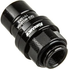 Koolance QD3 Male Quick Disconnect No-Spill Coupling, Male Threaded G 1/4 BSPP Black (QD3-MSG4-BK)