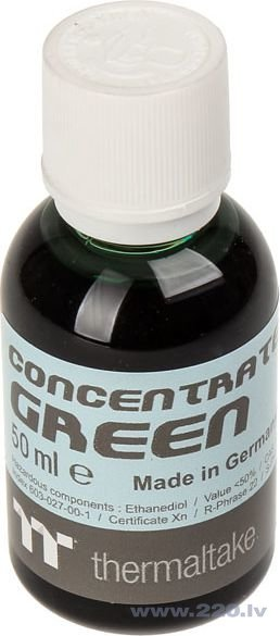 Thermaltake Premium concentrate, 50ml, Green (CL-W163-OS00GR-A) cena un informācija | Ūdens dzesēšana - aksesuāri | 220.lv