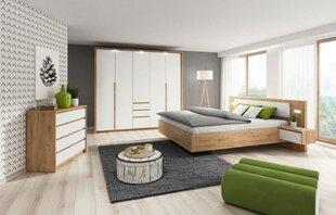 Guļamistabas mēbeļu komplekts Xelo, balts/ozola krāsas