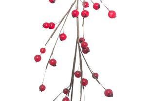 Ziemassvētku dekorācija virtene Sarkanās ogas