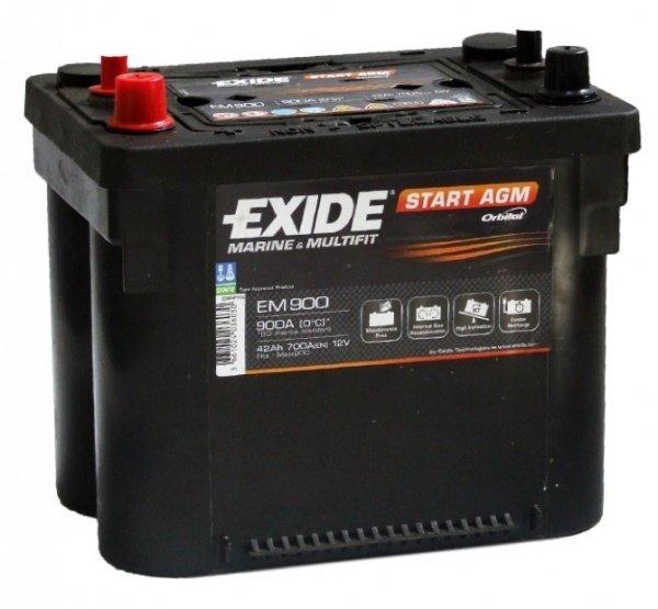 Akumulators EXIDE EM900 42 Ah 700 A