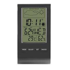 MiniMu iekštelpu temperatūra, mitruma mērītājs ar pulksteni, datuma un laika prognožu funkcijām cena un informācija | Meteostacijas, termometri | 220.lv