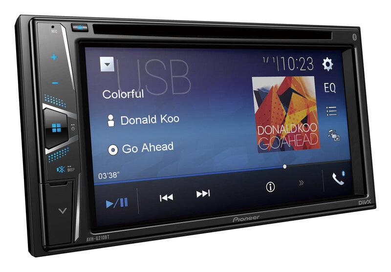 "Pioneer, AVH-G210BT CD/DVD atskaņotājs ar 6.2"" ekrānu, iPod/iPhone"