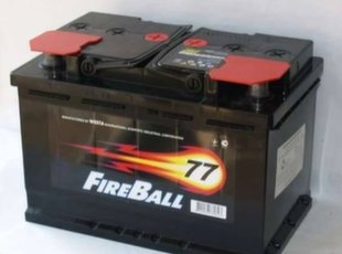 Akumulators FireBall 77Ah 760A