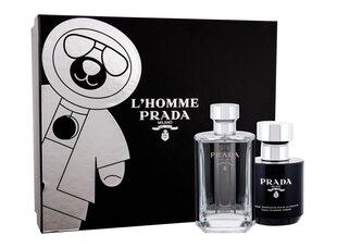 Komplekts Prada L'Homme vīriešiem: EDT 50 ml + dušas želeja 100 ml