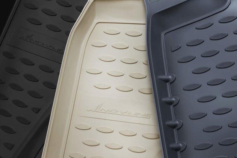 Gumijas paklājiņi 3D MITSUBISHI Outlander 2012-2014, 2014->, 4 gab., melni /L48058 atsauksme