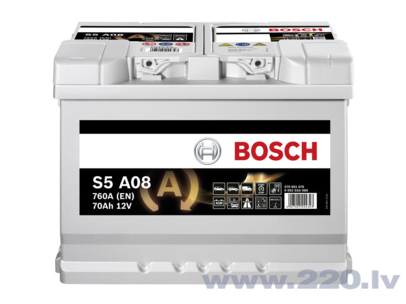 Akumulators Bosch S5A13 AGM 95 AH 850A