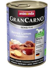 Animonda barība ar jēru un kartupeļiem Grancarno Sensitive, 400 g cena un informācija | Konservi suņiem | 220.lv