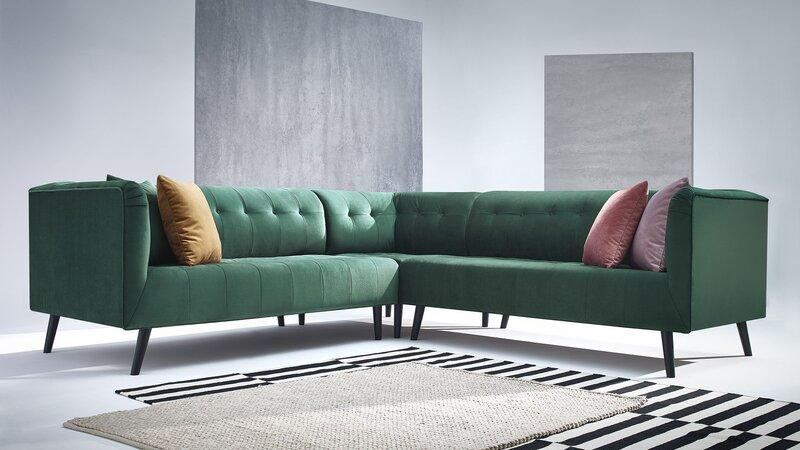 Universāls mīksts stūra dīvāns BoboChick Paris, zaļš