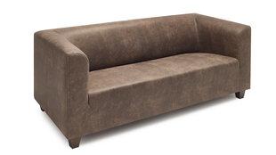 Трехместный диван BoboChic Django, коричневый цена и информация | Диваны и кресла | 220.lv