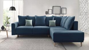 Mīksts stūra dīvāns Mola L, zils