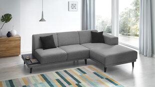 Mīksts stūra dīvāns BoboChic Leo ar plauktu, tumši pelēks cena un informācija | Dīvāni un krēsli | 220.lv