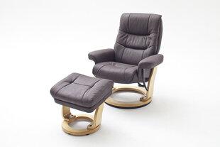 Krēsls Samone L, gaiši brūns/melns cena un informācija | Dīvāni un krēsli | 220.lv