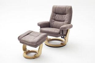 Krēsls Samone XL, gaiši brūns/pelēks
