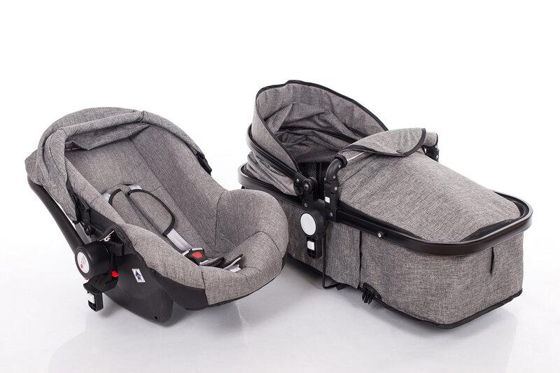 Универсальная коляска Louke Kinder 3в1, серый интернет-магазин