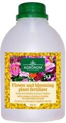 Agronom puķu un ziedu augu mēslošanas līdzeklis 500 ml cena un informācija | Šķidrie mēslošanas līdzekļi | 220.lv