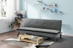 Dīvāns Lindo, pelēks/melns cena un informācija | Dīvāni un krēsli | 220.lv