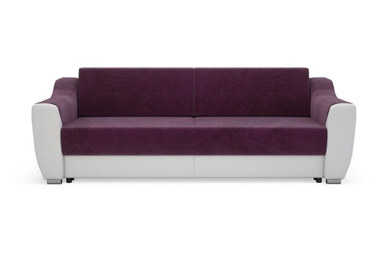 Dīvāns Bianca Bergen, balts/violets cena