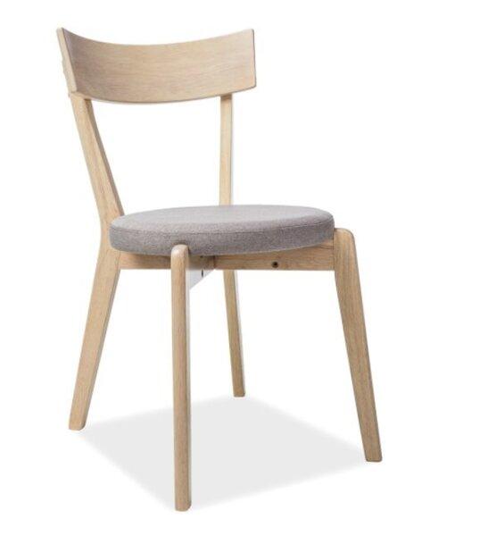 Комплект из 2-х стульев Signal Meble Nelson, дубового/серого цвета