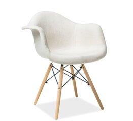 2 krēslu komplekts Bono, balts cena un informācija | Krēsli | 220.lv