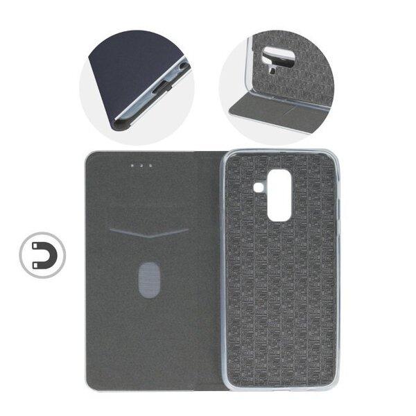 TakeMe Metal-Edge эко кожаный чехол для Samsung J415 Galaxy J4+, Синий