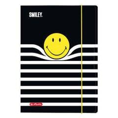Papīru mape SMILEY B&Y STRIPES, ar gumiju, laminētu virsmu, A4, 50016068