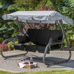 Saliekamas šūpoles Patio Rimini, melnas cena un informācija | Dārza šūpoles | 220.lv