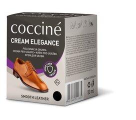 Coccine melnas krāsas apavu smēre ar sūkli Nr.02 Cream Elegance, 50 ml