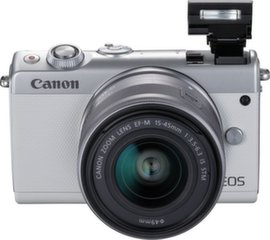 Canon EOS М100, 15-45мм IS STM, Белый