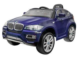 """Детский одноместный темно-синий электромобиль с кожаным сиденьем """"BMW x6"""""""