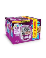 Whiskas komplekts kaķēniem ar zivīm Junior, 24 x 85 g.